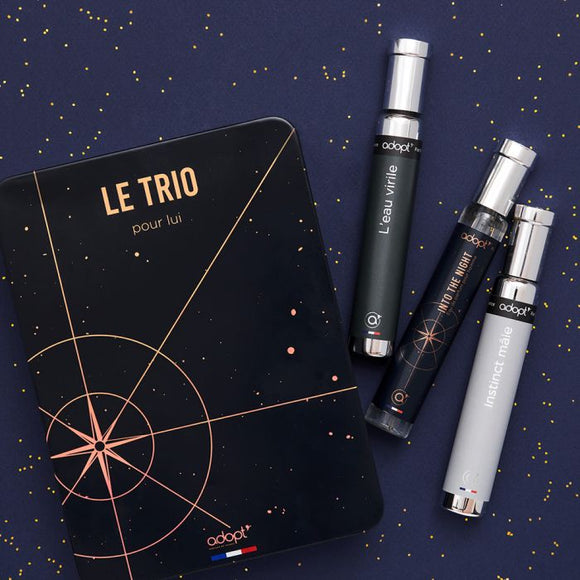 Le trio 30ml pour lui - Adopt Noël - Maquillage, Parfums, Vernis, Rouge a levres, Ongles, Homme, Femme, Jolie, Belle, Beaute, beauty, High Class, Top prices, Top Quality, France, Maurice