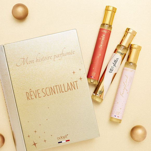 Coffret 3 parfums Rêve scintillant - Adopt Noël - Maquillage, Parfums, Vernis, Rouge a levres, Ongles, Homme, Femme, Jolie, Belle, Beaute, beauty, High Class, Top prices, Top Quality, Franc