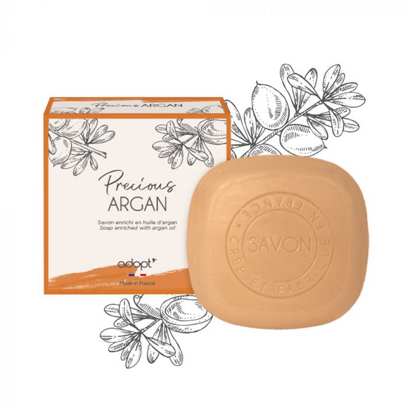 Precious Argan - Savon 100g - Adopt savon - Maquillage, Parfums, Vernis, Rouge a levres, Ongles, Homme, Femme, Jolie, Belle, Beaute, beauty, High Class, Top prices, Top Quality, France, Mauri