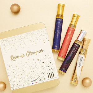 Coffret 4 parfums Rêve de glamour - Adopt Noël - Maquillage, Parfums, Vernis, Rouge a levres, Ongles, Homme, Femme, Jolie, Belle, Beaute, beauty, High Class, Top prices, Top Quality, France