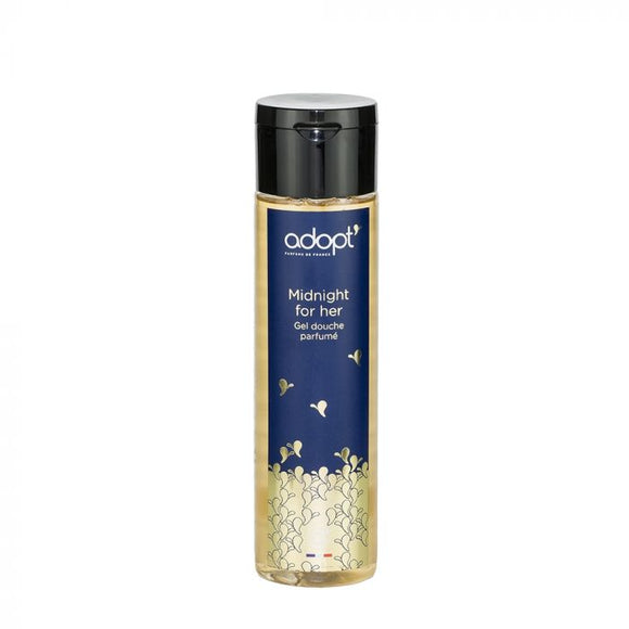 Midnight for her - gel douche 250ml - Adopt gel douche, soin - Maquillage, Parfums, Vernis, Rouge a levres, Ongles, Homme, Femme, Jolie, Belle, Beaute, beauty, High Class, Top prices, Top Qua