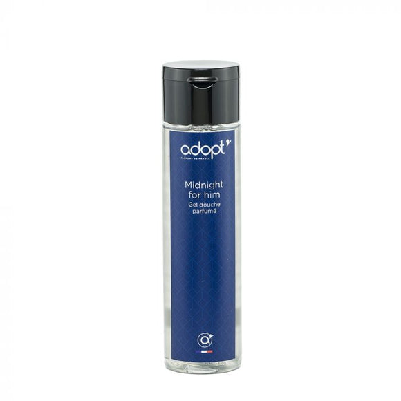 Midnight for him - gel douche 250ml - Adopt gel douche, soin - Maquillage, Parfums, Vernis, Rouge a levres, Ongles, Homme, Femme, Jolie, Belle, Beaute, beauty, High Class, Top prices, Top Qua