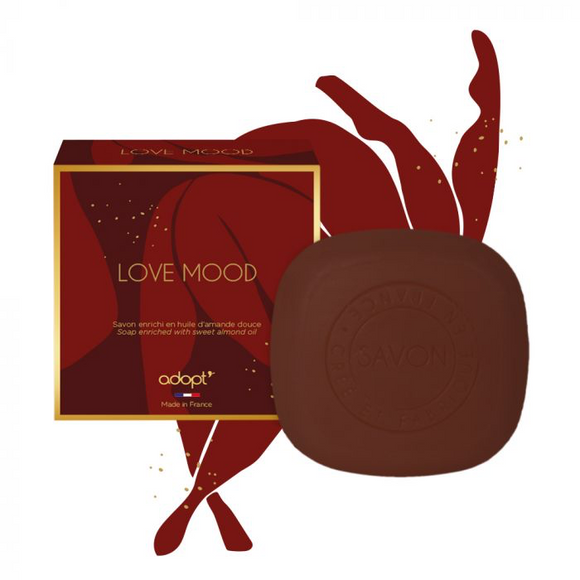 Love Mood - Savon 100g - Adopt idees cadeaux, savon - Maquillage, Parfums, Vernis, Rouge a levres, Ongles, Homme, Femme, Jolie, Belle, Beaute, beauty, High Class, Top prices, Top Quality, Fra