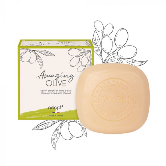 Amazing Olive - Savon 100g - Adopt savon - Maquillage, Parfums, Vernis, Rouge a levres, Ongles, Homme, Femme, Jolie, Belle, Beaute, beauty, High Class, Top prices, Top Quality, France, Mauric