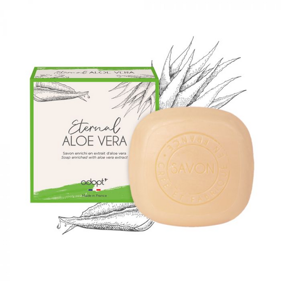 Eternal Aloe Vera - Savon 100g - Adopt savon - Maquillage, Parfums, Vernis, Rouge a levres, Ongles, Homme, Femme, Jolie, Belle, Beaute, beauty, High Class, Top prices, Top Quality, France, Ma