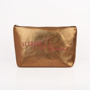 "Pochette bronze ""Le grand Amour"" - Adopt maroquinerie - Maquillage, Parfums, Vernis, Rouge a levres, Ongles, Homme, Femme, Jolie, Belle, Beaute, beauty, High Class, Top prices, Top Quality, F"