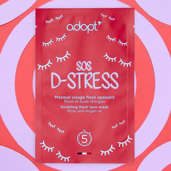 Masque tissu apaisant - sos d-stress - Adopt soin - Maquillage, Parfums, Vernis, Rouge a levres, Ongles, Homme, Femme, Jolie, Belle, Beaute, beauty, High Class, Top prices, Top Quality, Franc