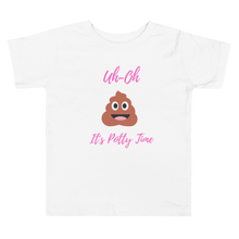 Load image into Gallery viewer, Uh-Oh it's potty time toddler Tee - Skyway Trends