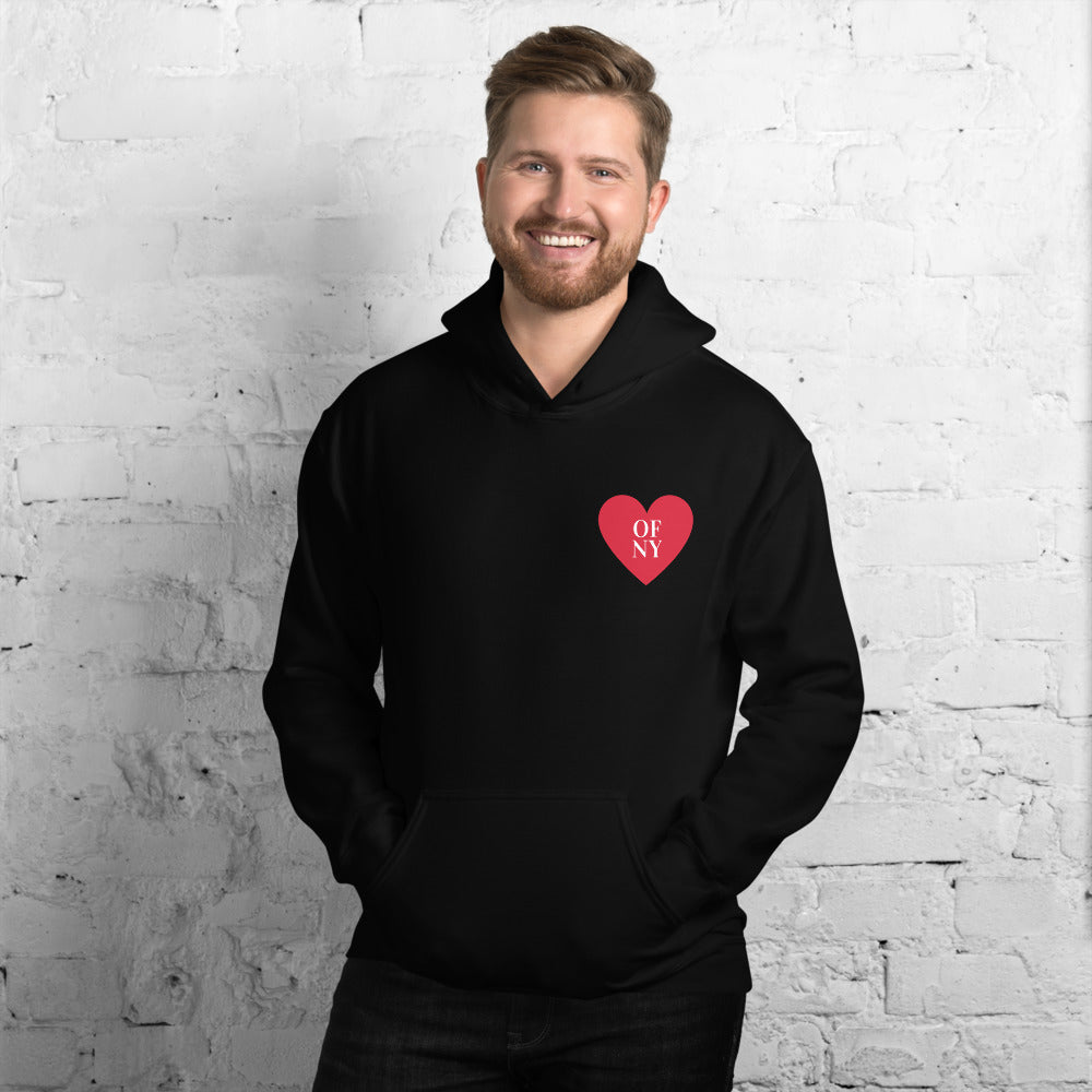 Heart Of NY Black Hoodie - Skyway Trends