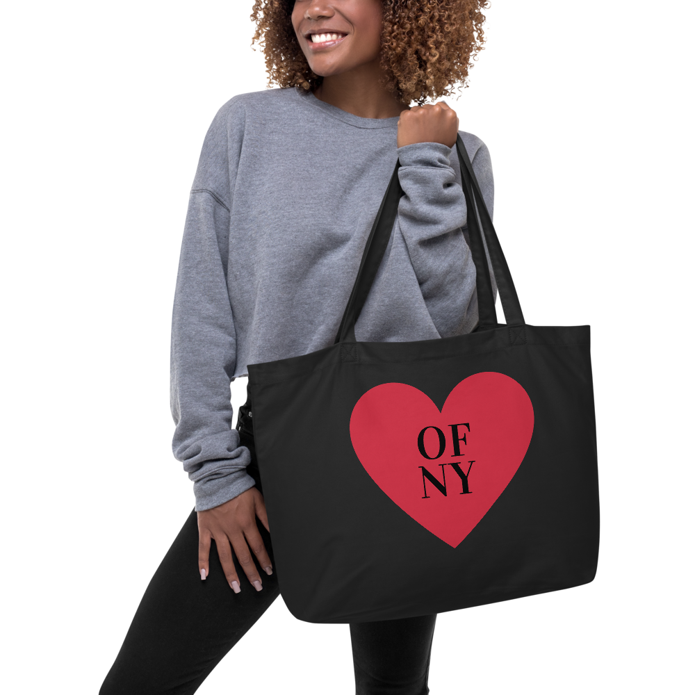 Heart of NY Large organic tote bag