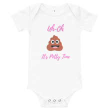 Load image into Gallery viewer, Uh-Oh it's potty time onesie - Skyway Trends