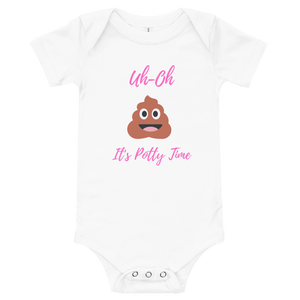 Uh-Oh it's potty time onesie - Skyway Trends