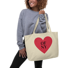 Load image into Gallery viewer, Heart of NY Large organic tote bag
