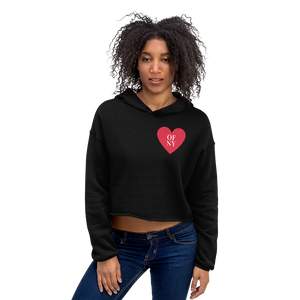 Heart of NY Crop Hoodie - Skyway Trends