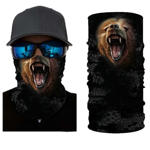 Grizzly Bear Tube Bandana - Whistle Punk Clothing Co.