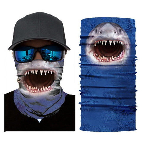 Great White Tube Bandana - Whistle Punk Clothing Co.