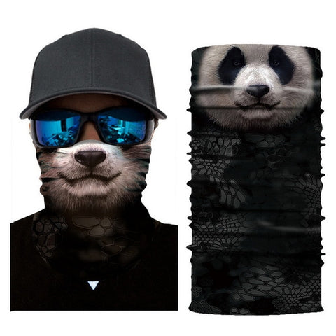 Panda Bear Tube Bandana - Whistle Punk Clothing Co.