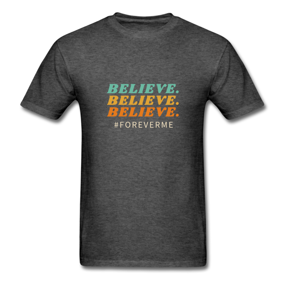 Men's T-Shirt- #ForeverMe Belive - heather black