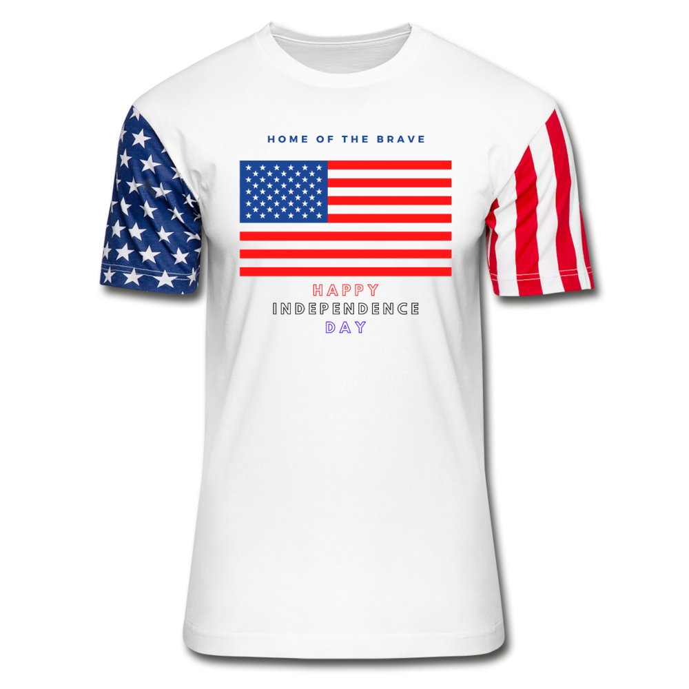 Men's T-Shirt- Independence Day - white