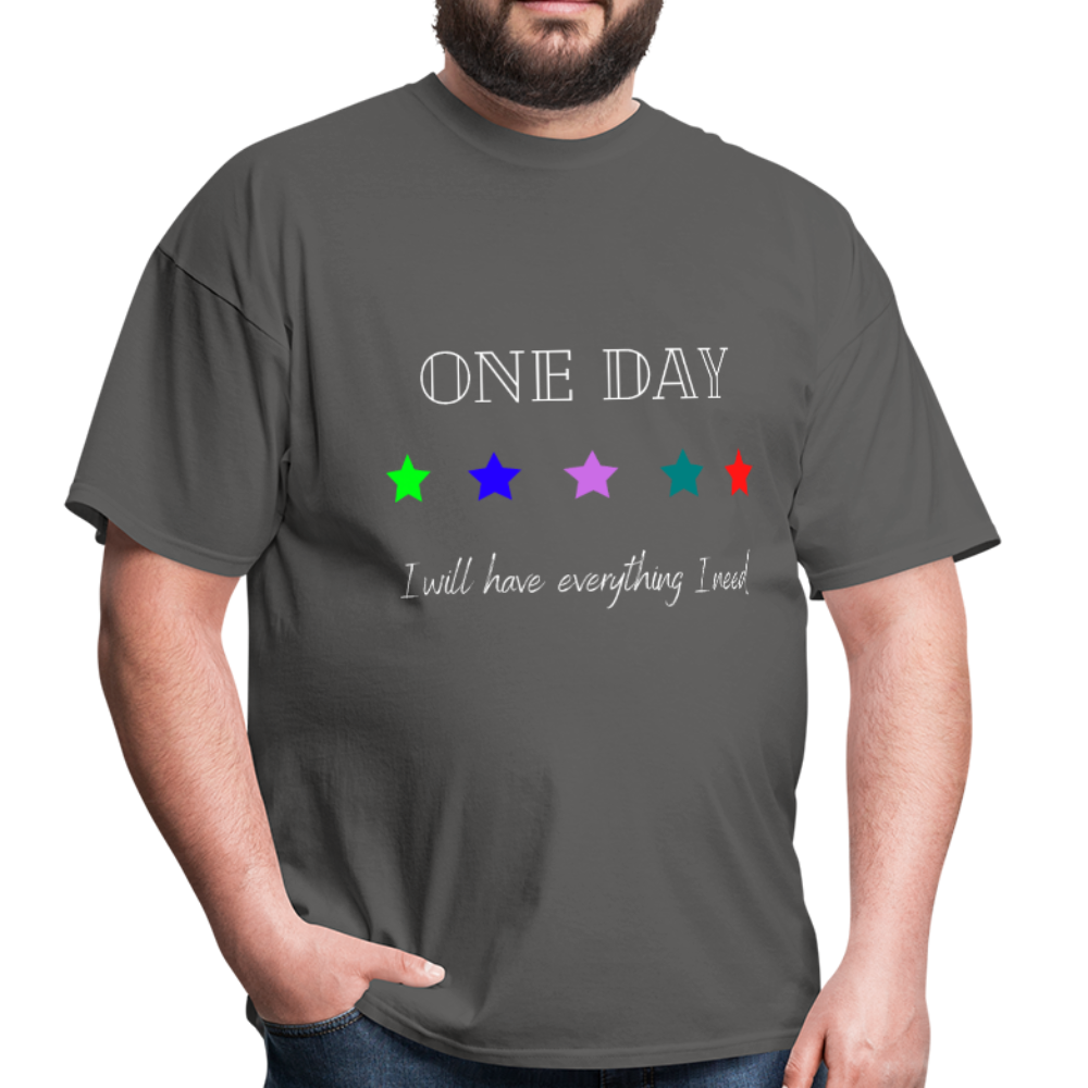 Men's T-Shirt- One Day: 5 Star - charcoal