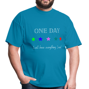 Men's T-Shirt- One Day: 5 Star - turquoise