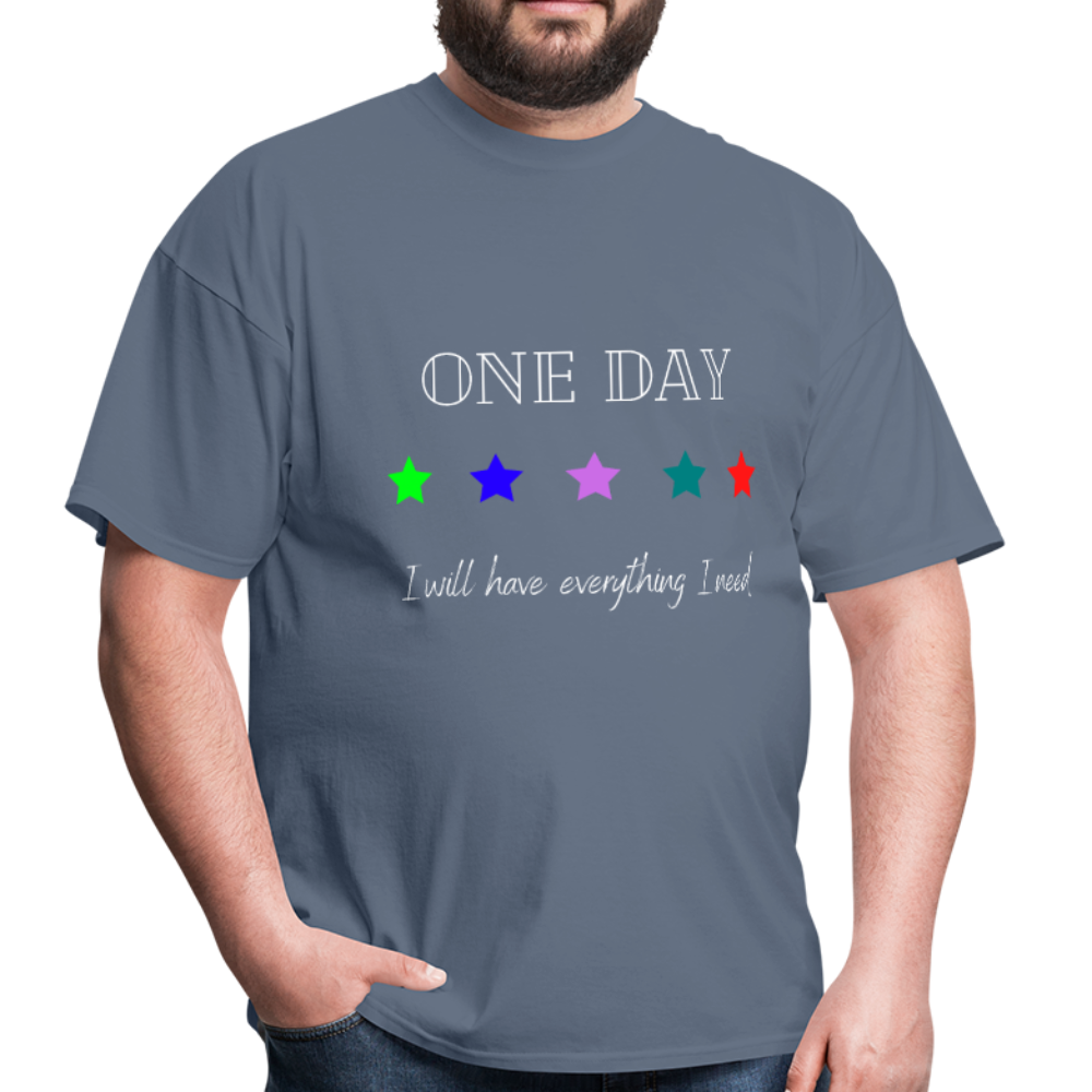 Men's T-Shirt- One Day: 5 Star - denim