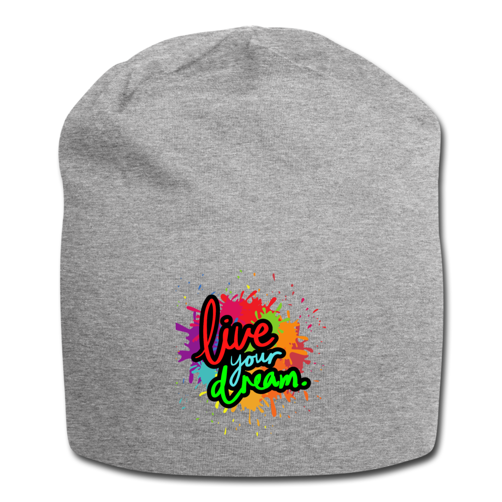 Live your dream Beanie - heather gray
