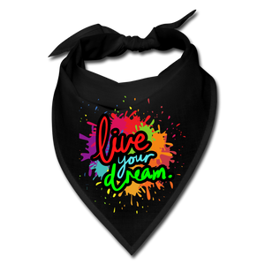Live Your Dream Bandana - black