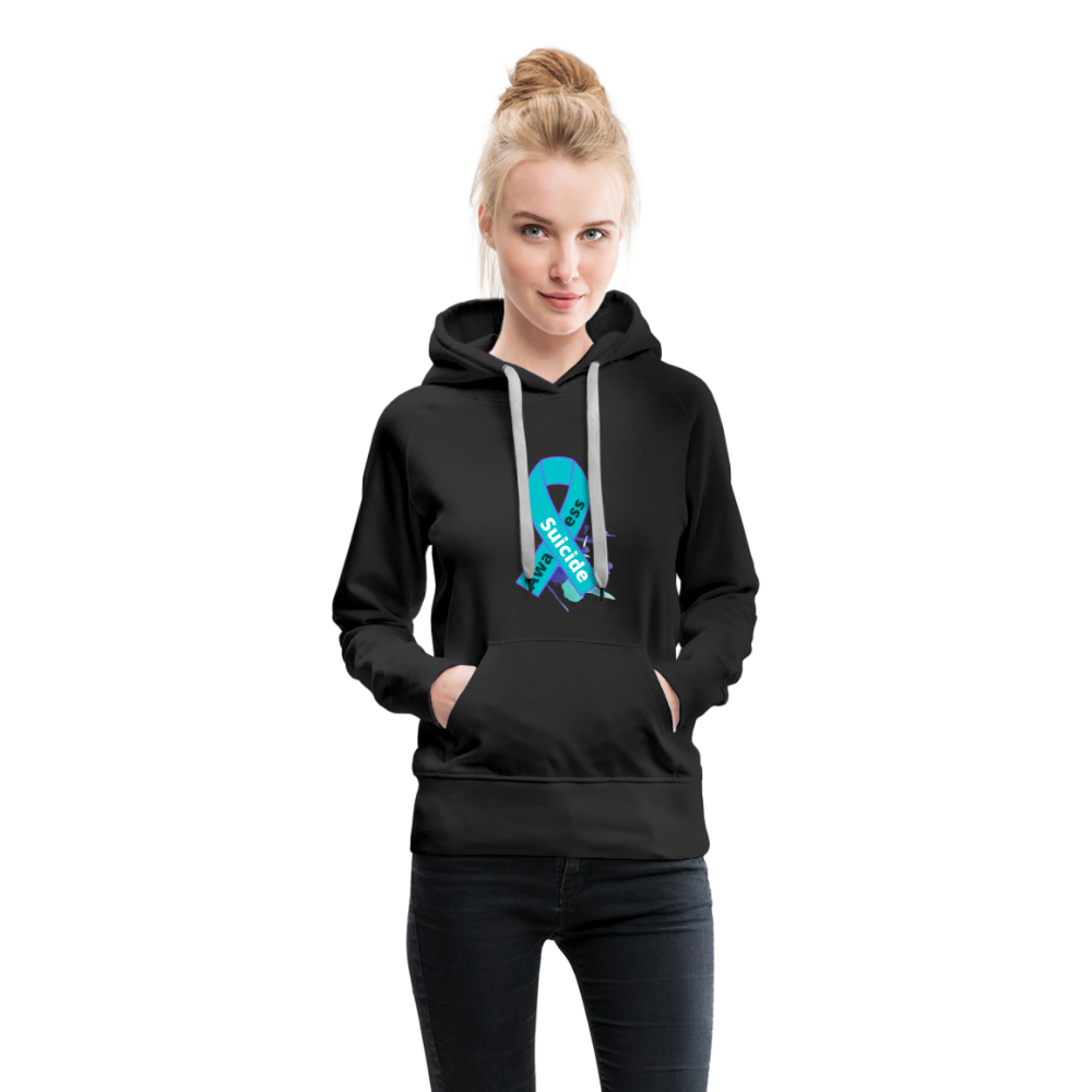 Women's Premium Hoodie- Suicide Awareness - black