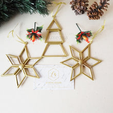 Load image into Gallery viewer, 3 Sets (9 ornaments) Clarice Christmas Geometric Decorations