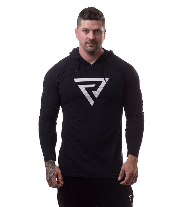 Restless Tight Hoodie Black/Mel - Restless Industries
