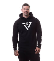 Restless Sleeve Logo Hood-Black - Restless Industries