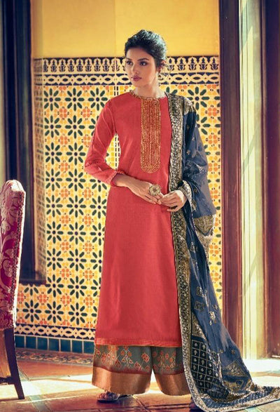 Venetia Pink Sharara Set-Indian Wear-Label Varsha