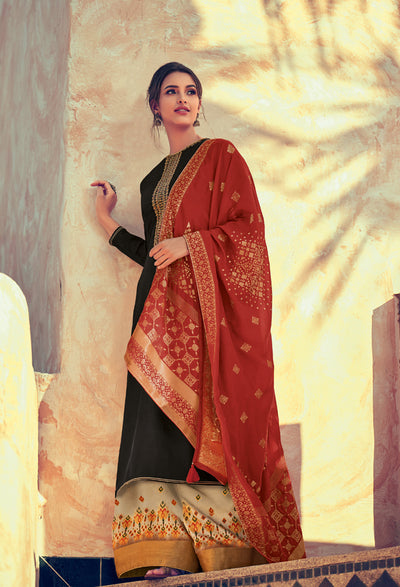 Black Sharara Set-Indian Wear-Label Varsha