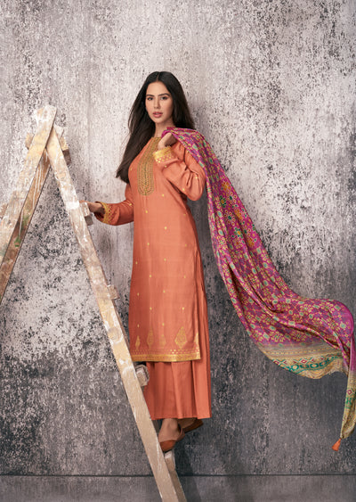 Coral Kurta Set-Indian Wear-Label Varsha