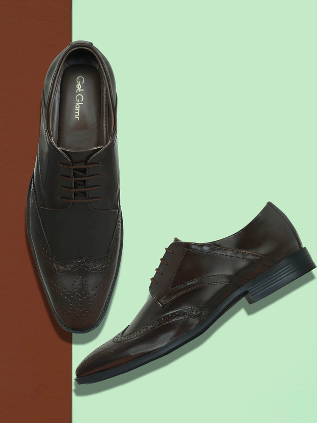 Get Glamr Men Genuine Leather Designer Brogues
