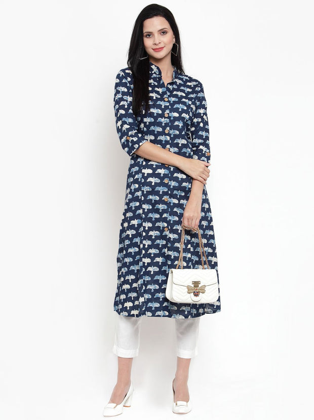 Get Glamr Women's Cotton A-Line Kurta