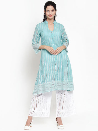 Get Glamr Women's Cotton Kurta and Palazzo Set.