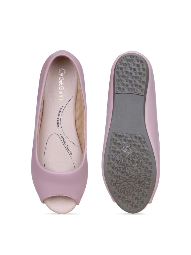 Women Pink Classic & Comfortable Flat Peep Toes