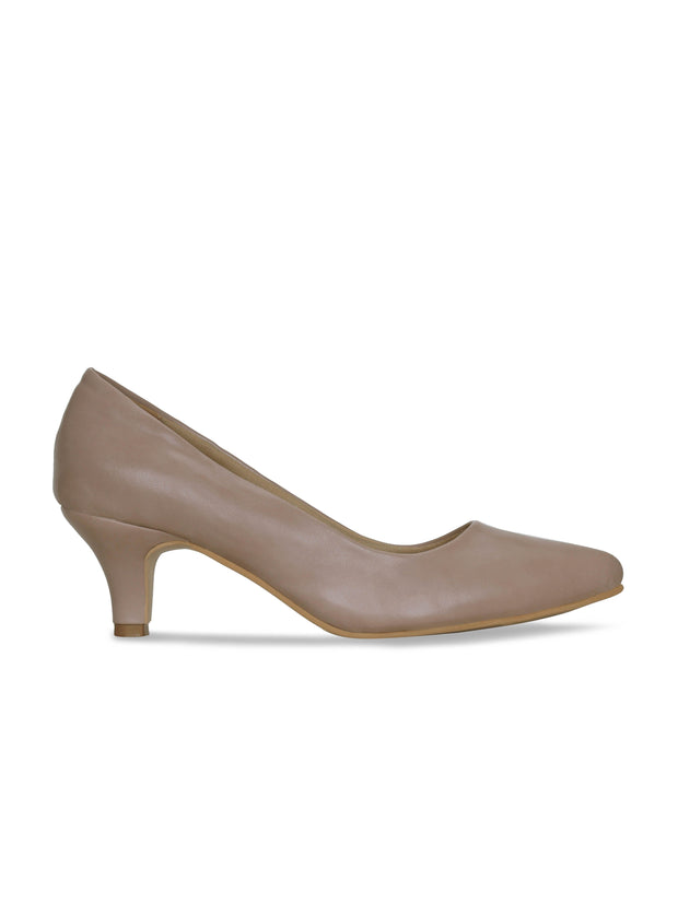 Women Nude Classic Solid Pumps