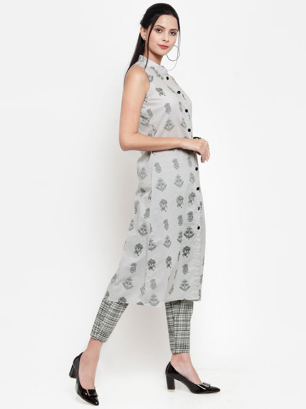 Get Glamr Women's Cotton Kurta and Trousers Set
