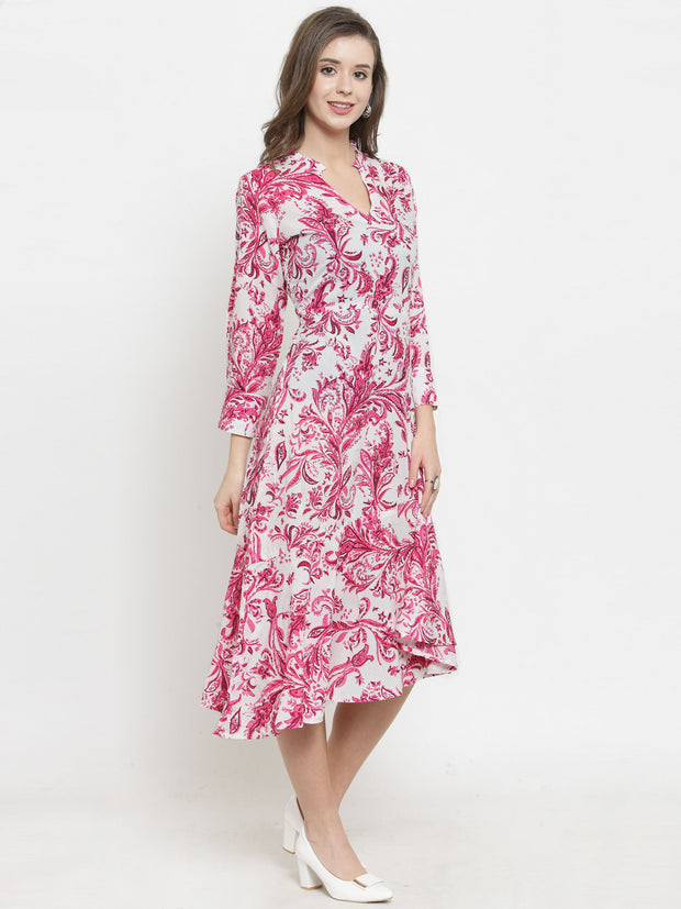 Get Glamr Women Rayon Floral Flared Dress