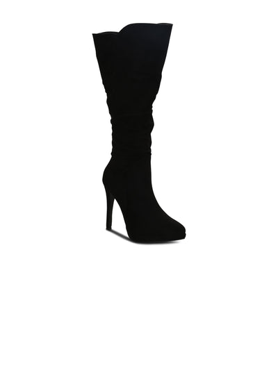 Heeled Boots Pointed Toe Suede 4.5 inches