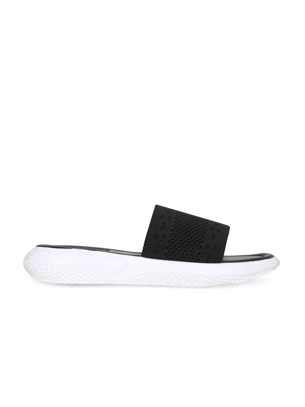 Women Black Casual Mesh Flatforms Slip ons
