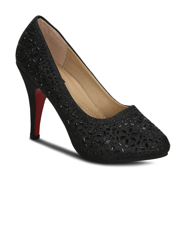 Pumps Round Toe Synthetic 4 inches