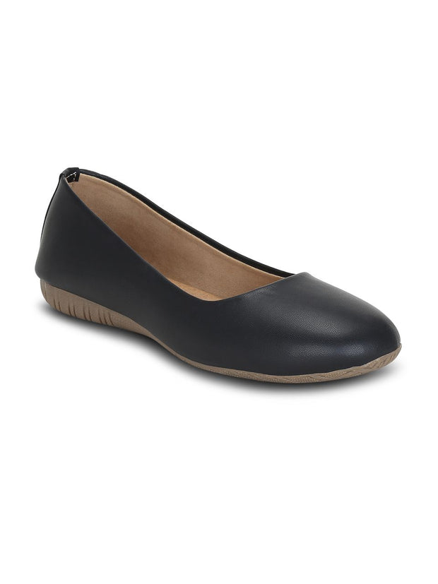 black ballerinas flat shoes