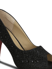 Pumps Peep Toe Synthetic 4 inches