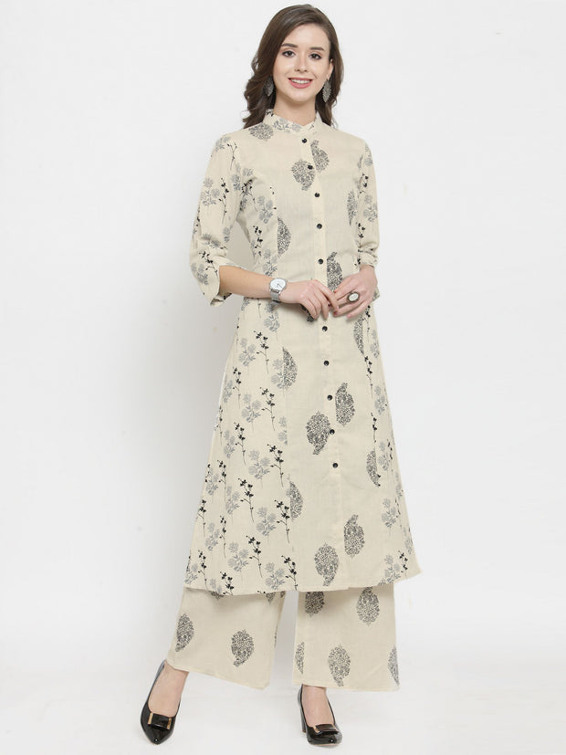 get glamr Women Cotton Kurta and Palazzo Set