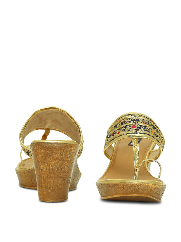 Get Glamr Women Ethnic Kolhapuri wedges