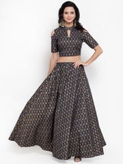 Get Glamr Women Fully Stiched Lehenga Choli